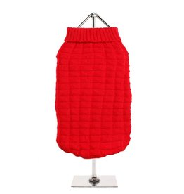 Urban Pup Urban Pup Red Waffle Textured Knitted Sweater