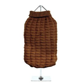 Urban Pup Urban Pup Chocolate Brown Waffle Textured Knitted Sweater