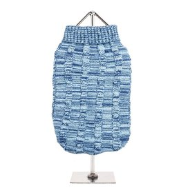 Urban Pup Urban Pup Blue Waffle Textured Knitted Sweater