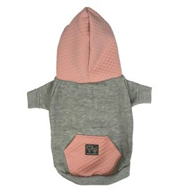 Big and Little Dogs Big and Little Dogs hoody jumper Quilted Blush