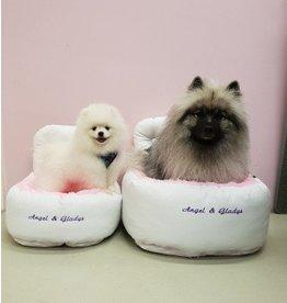 Angel & Gladys Angel & Gladys autostoel Comfort white/pink