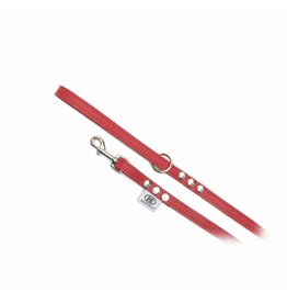 Buddy Belts Buddy Belt Leren Riem Red met Crystals