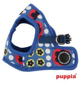 Puppia Puppia Blossom Harness model B Royal Blue