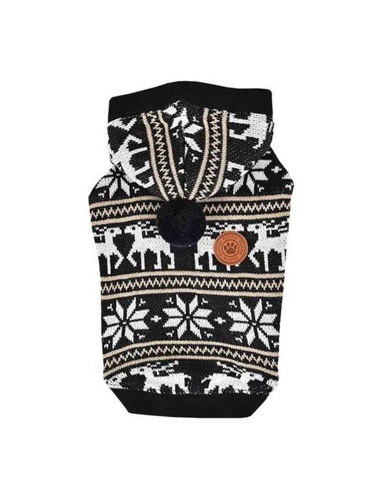 Puppia Puppia Prancer winter hoodie Black