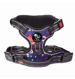 Frenkiez Frenkiez reflective no pull dog harness printing blue