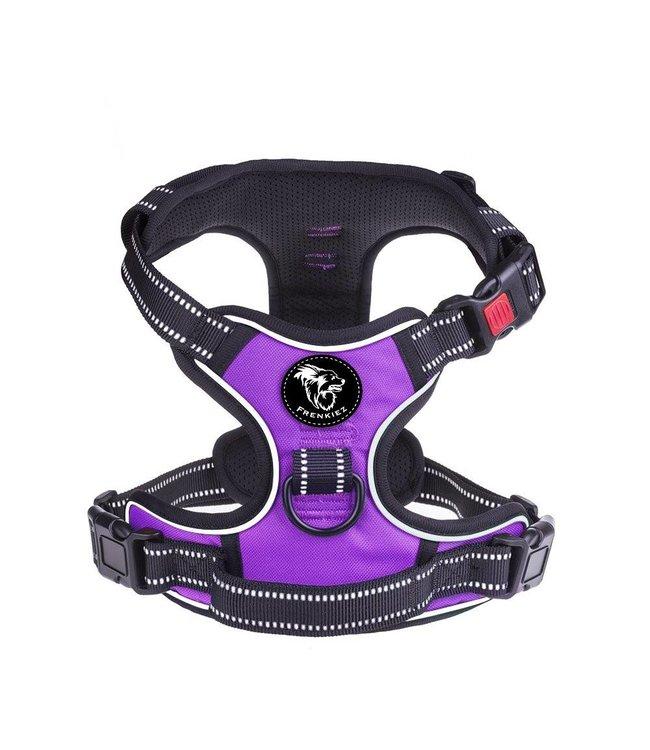 Frenkiez Frenkiez reflective no pull lockable dog harness purple