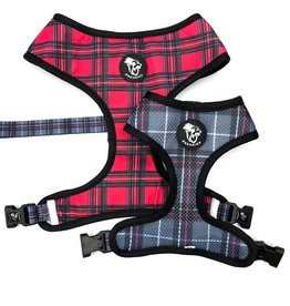 Frenkiez Frenkiez Reversible Harness BarkBerry red