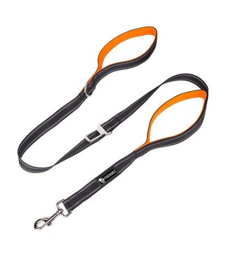 Frenkiez Frenkiez reflective dog leash orange