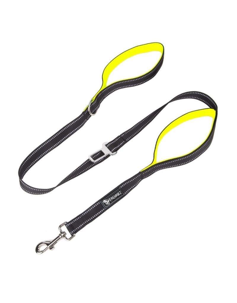 Frenkiez Frenkiez reflective dog leash yellow/green