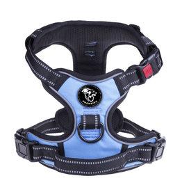Frenkiez Frenkiez reflective no pull lockable dog harness blue
