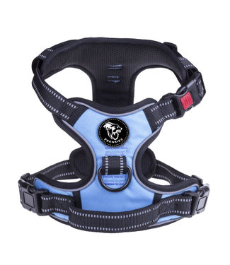 Frenkiez Frenkiez reflective no pull lockable dog harness blue