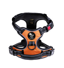 Frenkiez Frenkiez reflective no pull dog harness orange