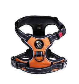 Frenkiez Frenkiez reflective no pull lockable dog harness orange