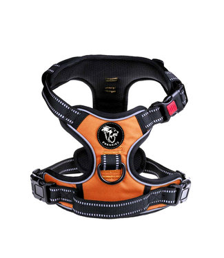Frenkiez Frenkiez reflective no pull lockable dog harness orange
