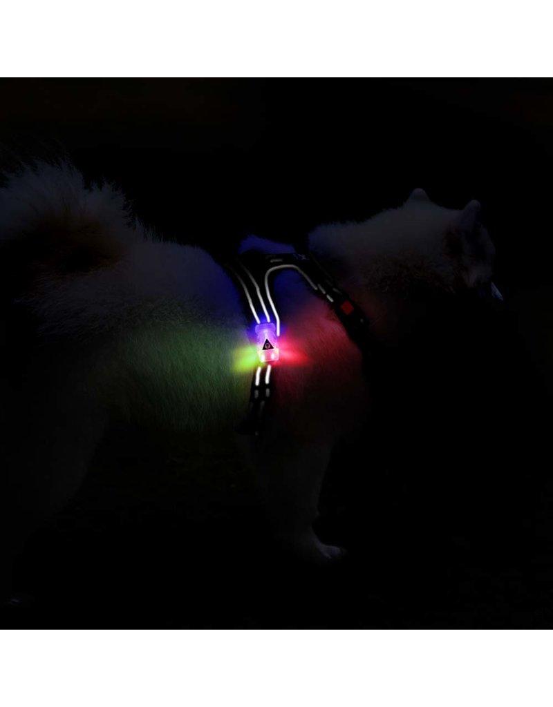 Frenkiez Frenkiez reflective no pull dog harness LED pink