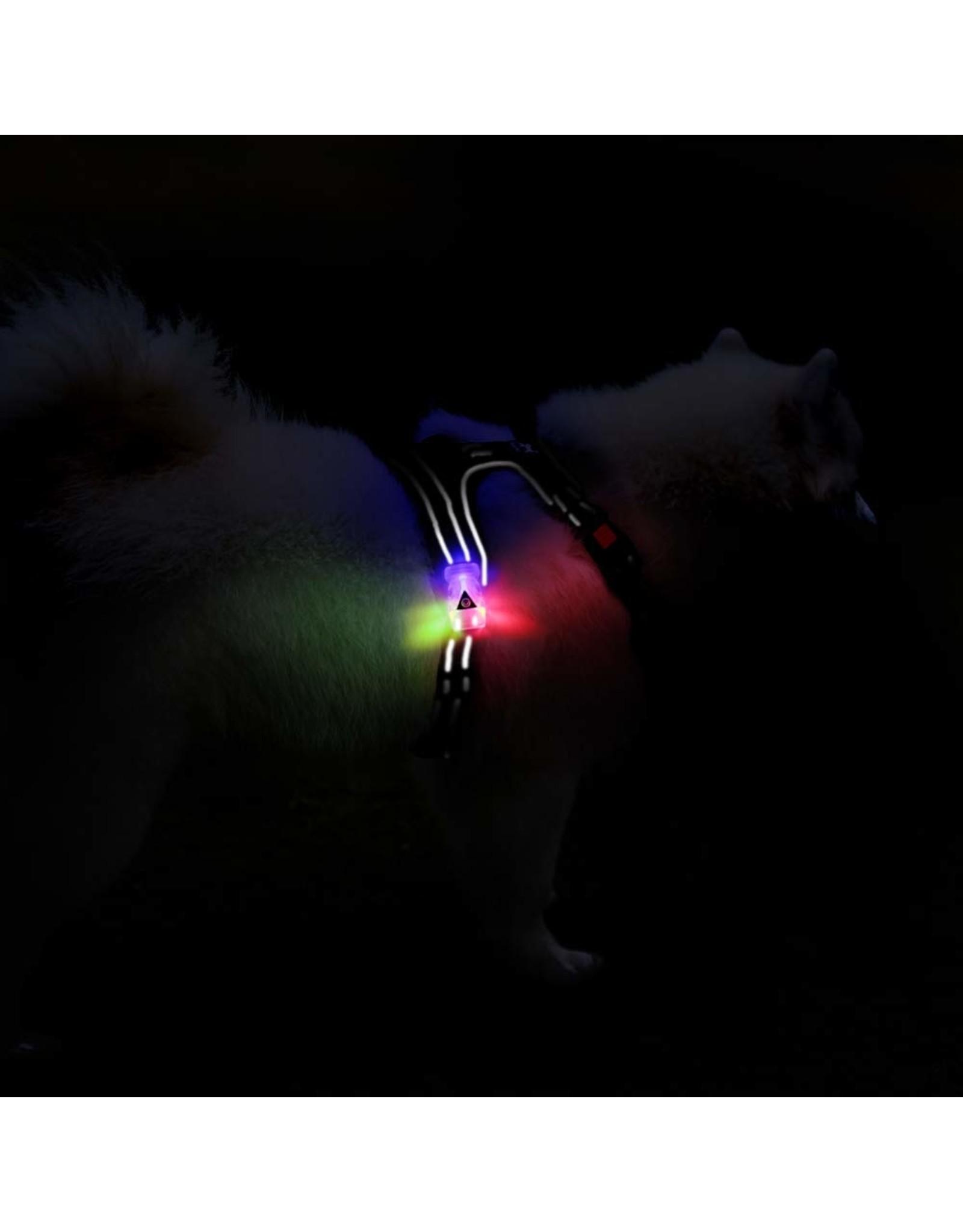 Frenkiez Frenkiez reflective no pull dog harness LED black