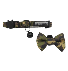 Little Kitty Little Kitty Cat Collar & Bow Tie Cool Cat Camo