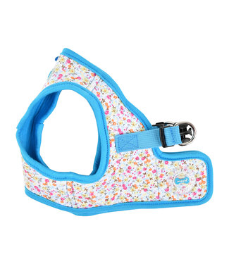 Puppia Puppia Harness model B Wildflower Sky Blue (ALLEEN L&XL)