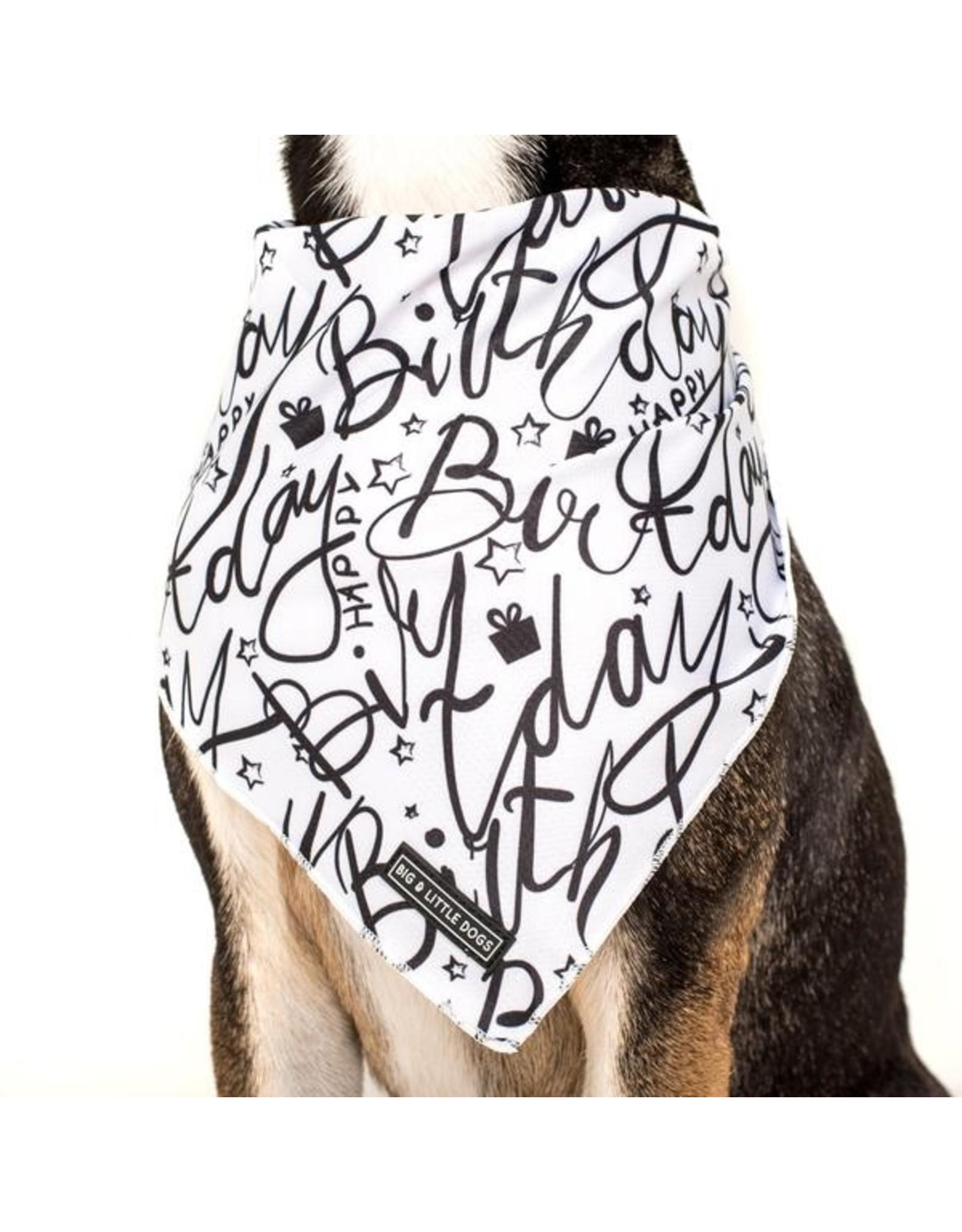 Big and Little Dogs Big  and Little dogs Bandana Black & White Birthday