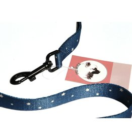 Frenkiez Frenkiez reflective dog leash blue stars