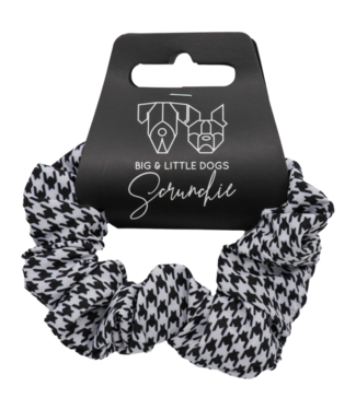 Big and Little Dogs Big and Little Dogs Houndstooth Squad scrunchie