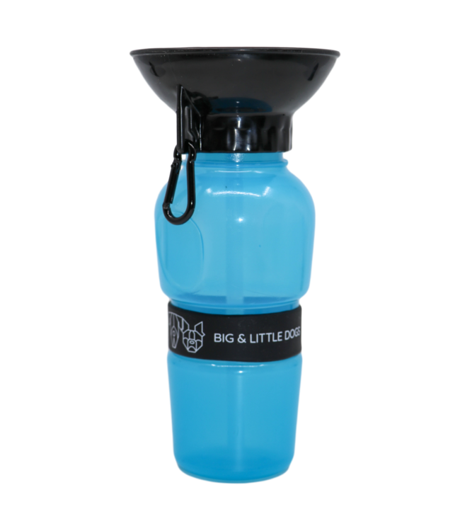 Big and Little Dogs Big and Little Dogs on-the-go water bottle Blue
