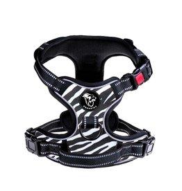 Frenkiez Frenkiez reflective no pull lockable dog harness Zebra