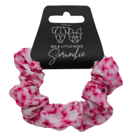 Big and Little Dogs Big and Little Dogs Pink Tie Dye scrunchie