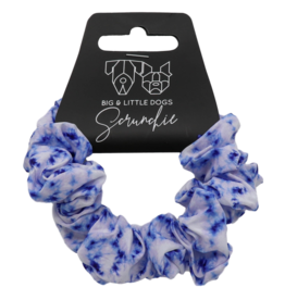 Big and Little Dogs Big and Little Dogs Blue Tie Dye scrunchie