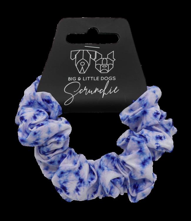 Big and Little Dogs Big and Little Dogs Blue Tie Dye scrunchie