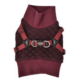 Puppia Puppia Sweater Harness J Gaspar Wine