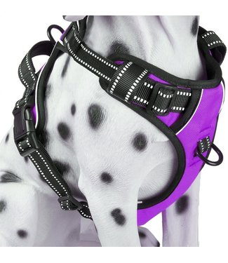 Frenkiez Frenkiez reflective no pull dog harness purple