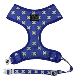 Big and Little Dogs Big & Little Dogs Classic Harness Blue X's