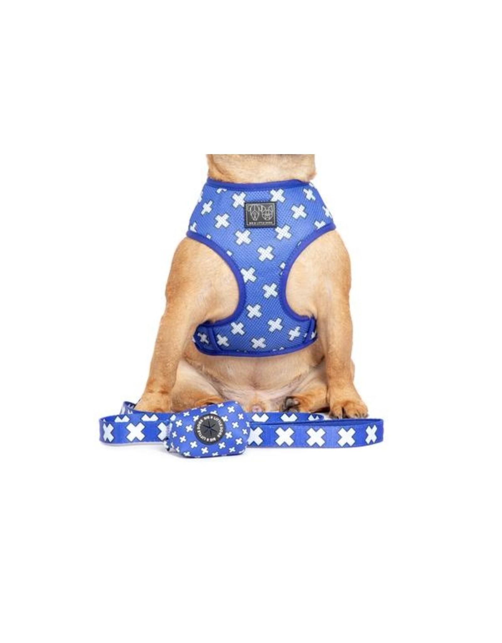 Big and Little Dogs Big and Little Dogs Blue X's poepzakjeshouder