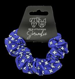 Big and Little Dogs Big and Little Dogs Blue X's scrunchie