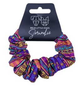 Big and Little Dogs Big and Little Dogs Aztec Dreams scrunchie