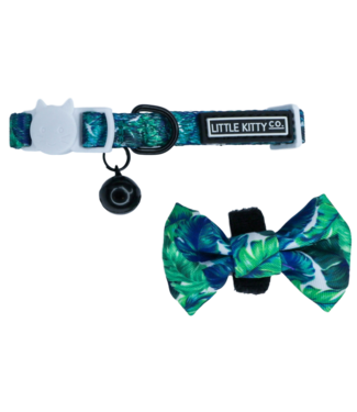 Little Kitty Little Kitty Cat Collar & Bow Tie Vacay Palms