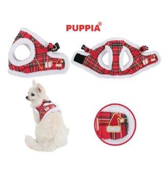 Puppia Puppia Harness B Santa Checkered Red