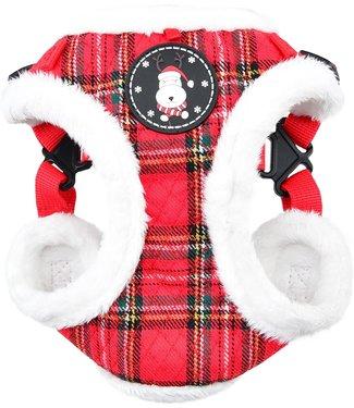 Puppia Puppia Blitzen Harness model C Checkered Red