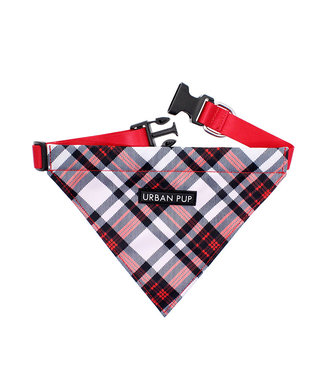 Urban Pup Urban Pup Red and White Plaid Bandana