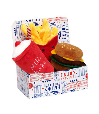 Urban Pup Urban Pup Hamburger Meal Deal Box (3 Toy Combo)