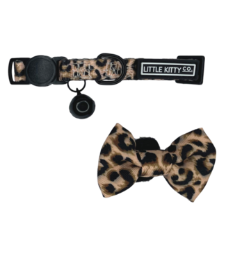Little Kitty Little Kitty Cat Collar & Bow Tie Luxurious Leopard