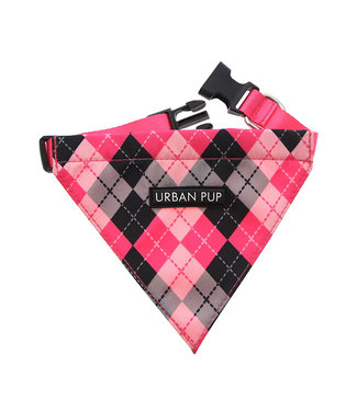 Urban Pup Urban Pup Pink Argyle Bandana