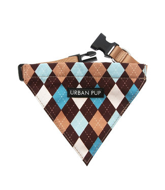 Urban Pup Urban Pup Brown & Blue Argyle Bandana