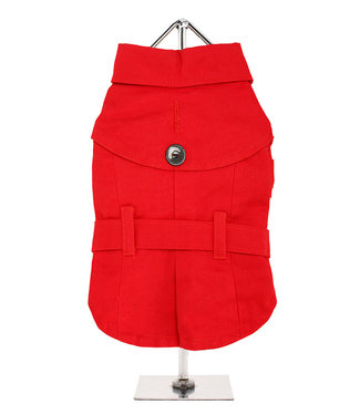 Urban Pup Urban Pup Red Fabric Trench Coat