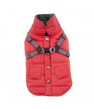 Pinkaholic Pinkaholic Ameila Winter Fleece Jacket Red