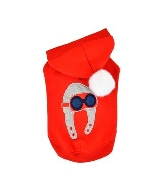 Puppia Puppia Aviator Hoodie Red