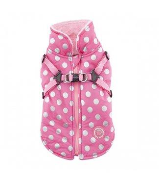 Pinkaholic Pinkaholic Misis Dotty Winter Fleece Jacket Pink