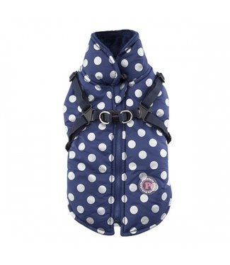 Pinkaholic Pinkaholic Misis Dotty Winter Fleece Jacket Navy