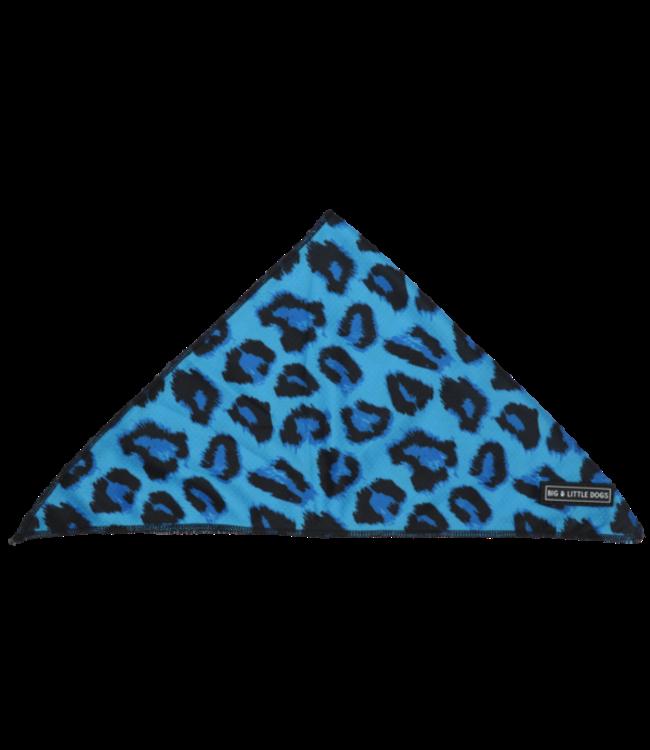 Big and Little Dogs Big  and Little dogs Bandana Blue Leopard
